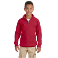 Picture of Youth 8 oz. NuBlend® Quarter-Zip Cadet Collar Sweatshirt