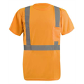 Picture of Men's LUX-SSETP2B-Orange and Yellow Sizes Reflective Pocket T-Shirt