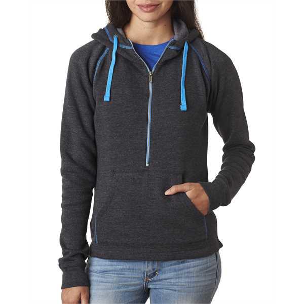 Picture of Ladies' Triblend Half-Zip Fleece Hood