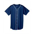 Picture of Youth Short Sleeve Full Button Baseball Jersey