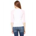 Picture of Ladies' Baby Rib 3/4-Sleeve Contrast Raglan T-Shirt