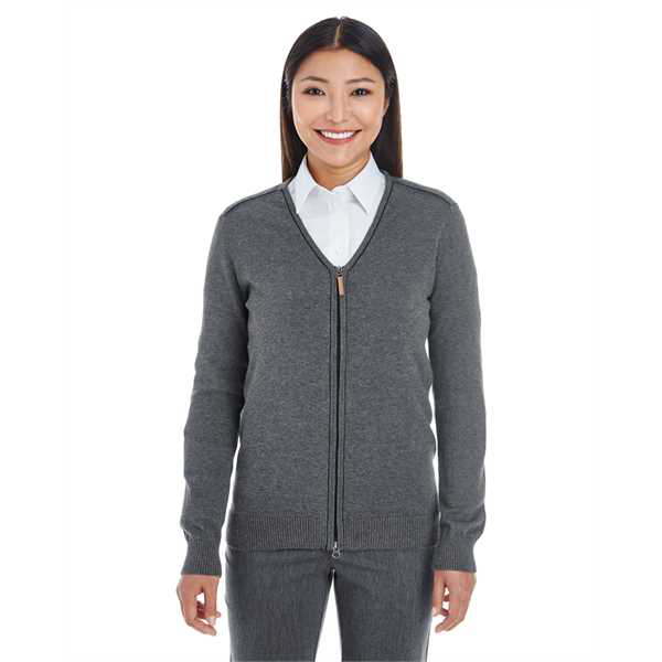 Picture of Ladies' Manchester Fully-Fashioned Full-Zip Cardigan Sweater