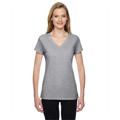 Picture of Ladies' 4.7 oz. Sofspun® Jersey Junior V-Neck T-Shirt
