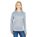 Picture of Ladies' Odyssey Striped Poly Fleece Lapover Hood