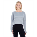 Picture of Ladies' Odyssey Striped Poly Fleece Hi-Lo Crew