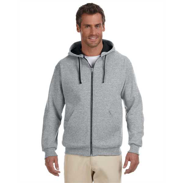 Picture of Adult 8 oz. NuBlend® Contrast Full-Zip Hood