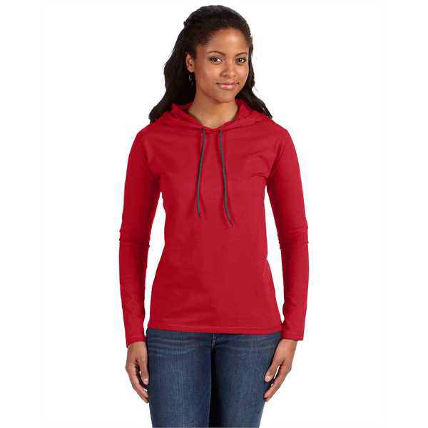 Picture of Ladies' Lightweight Long-Sleeve Hooded T-Shirt