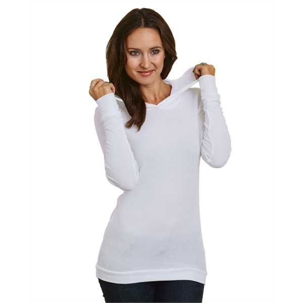 Picture of 5 oz., Junior's Long-Sleeve Thermal Hoodie T-Shirt